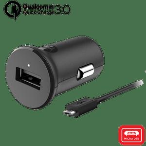 Chargeur de voiture Motorola TurboPower ™ 18 avec câble de données micro USB