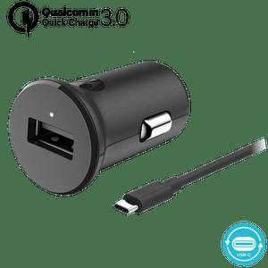 Chargeur de voiture Motorola TurboPower ™ 18 avec câble de données USB-C