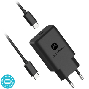 Chargeur mural Motorola TurboPower ™ 27 avec câble de données USB-C vers USB-C