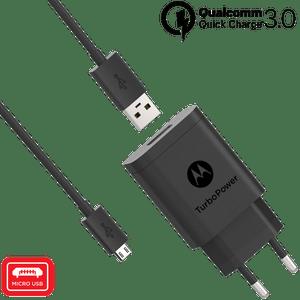 Chargeur mural Motorola TurboPower ™ 18 avec câble de données micro USB